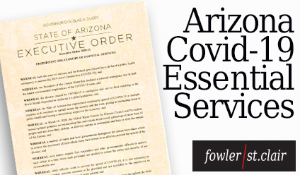 AZ Supreme Court Order & Executive Orders Regarding COVID 19 – March 2019